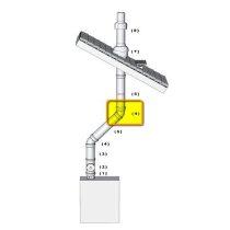 brilon pps-alu 60/100 45°-os kémény könyök