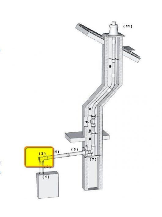 Brilon polipropilén (PP) ellenőrző kémény idom 80 mm-es