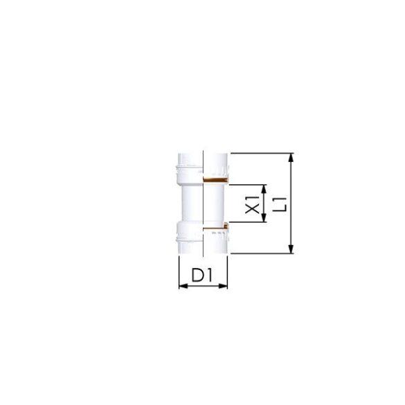 Tricox PPs kuplung idom flexibilis kéményrendszerhez