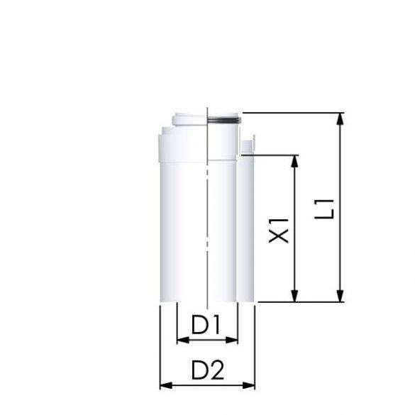 tricox pps-alu 60/100 koncentrikus füstcső