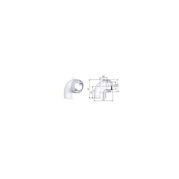 tricox pps-alu 80/125 koncentrikus ellenőrő könyök