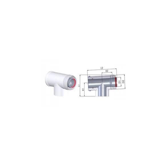 tricox pps-alu 60/100 koncentrikus ellenőrő könyök idom