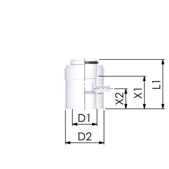 tricox pps-alu 60/100 kondenzvíz leválasztó