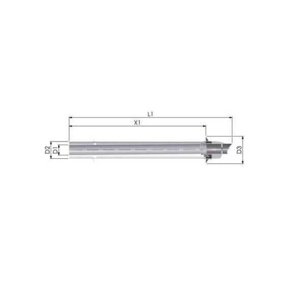 tricox pps/alu 80/125 parapet oldalfali átvezetés