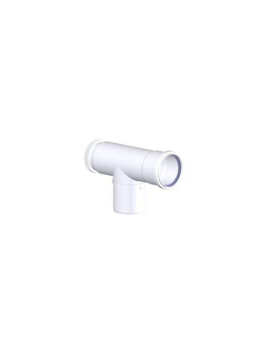 Tricox polipropilén pps füstcső ellenőrző T-idom 80 mm