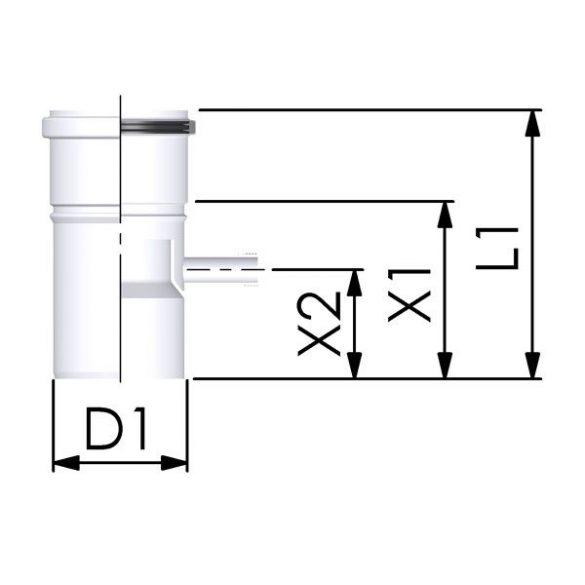 Tricox polipropilén kondenzátum leválasztó 80 mm