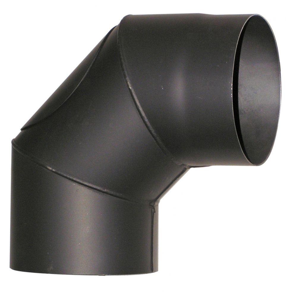 Acél füstcső könyök DN150/90° tisztító nyílással, vastagfalú