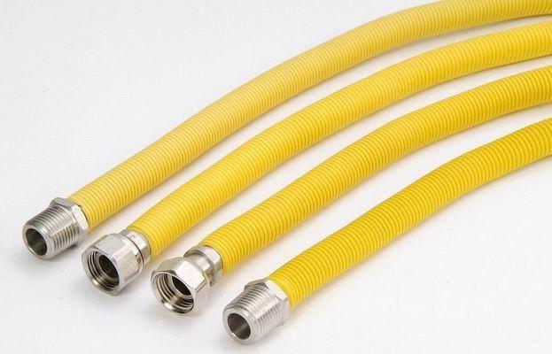 Acélbordás gáz bekötő cső 500-1000 mm 1/2