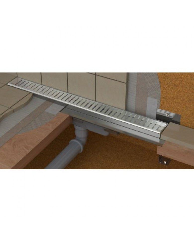 Alcaplast zuhanyfolyóka APZ10 Simple, 650 mm, rozsdamentes folyóka ráccsal