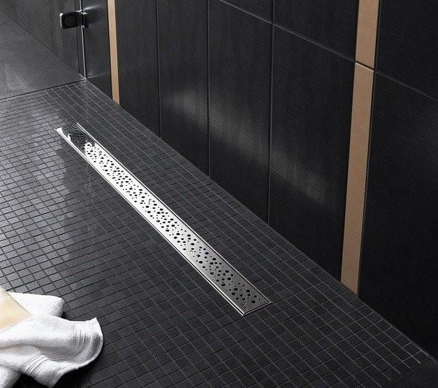 Alcaplast Buble zuhanyfolyóka rács, rozsdamentes acél