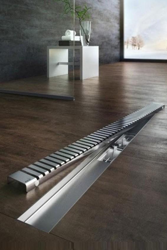 Alcaplast Line zuhanyfolyóka rács, rozsdamentes acél