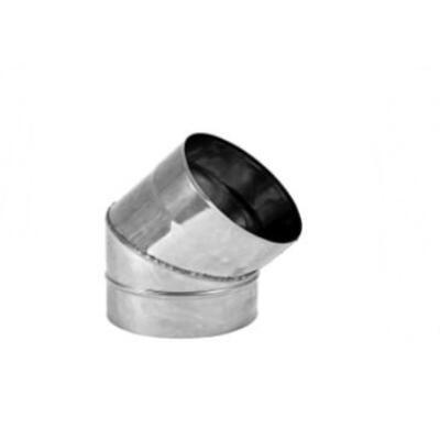 ST Saválló acél füstcső könyök DN130/0,8 mm 45°-os