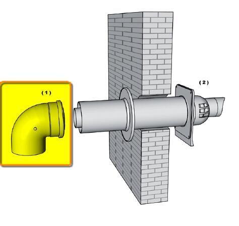 Brilon PPs/Alu 90°-os füstcső könyök 60/100 mm kondenzációs kéményhez